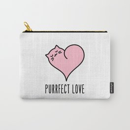 Cat heart Carry-All Pouch