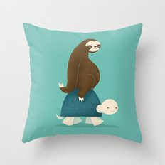 Slow Ride Throw Pillow