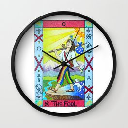 The Fool - Tarot Wall Clock