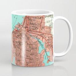 Vintage Map of Fall River Massachusetts (1949) Coffee Mug