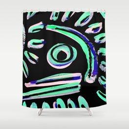Tribal Graffiti  Shower Curtain