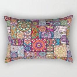 Boho Patchwork Quilt Pattern 2 Rectangular Pillow
