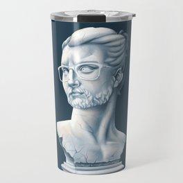 Hipster Bust Travel Mug