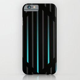 Blue Icy Rain: Black iPhone Case