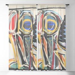 The Scream Street Art Graffiti Sheer Curtain