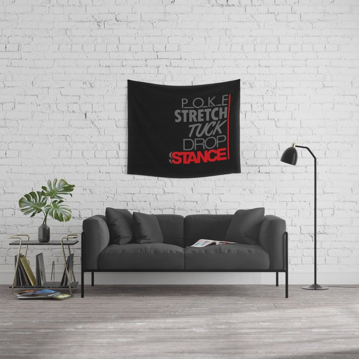 POKE STRETCH TUCK DROP STANCE v1 HQvector Wall Tapestry