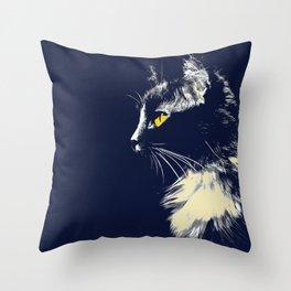 Mysterious Cat Throw Pillow
