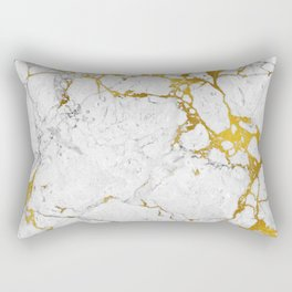 Gold on marble Rectangular Pillow