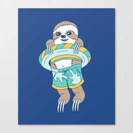 Swim Sloth Canvas Print