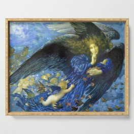 Night with her Train of Stars by Edward Robert Hughes Serving Tray