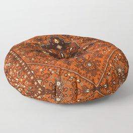 N151 - Orange Oriental Vintage Traditional Moroccan Style Artwork Floor Pillow