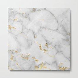 simple marble Metal Print