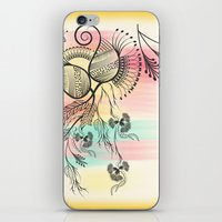 decorative iPhone & iPod Skins featuring Decorative Floral by famenxt