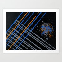 grid Art Prints featuring Grid by Last Call