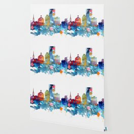 Colorful watercolor Lexington skyline Wallpaper