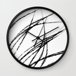 Plume- A Feather Study 3 Wall Clock