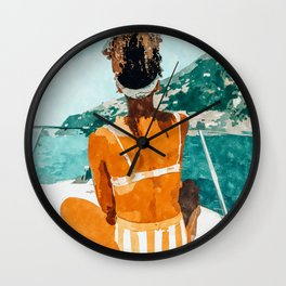 Solo Traveler Wall Clock