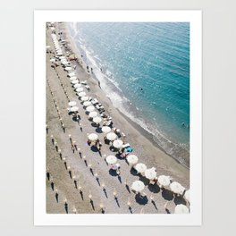 Sorrento Beach Scene Art Print