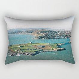 Aerial view of Dalkey Island Rectangular Pillow