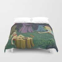 fairies Duvet Covers featuring Weed Fairies by Tem's House
