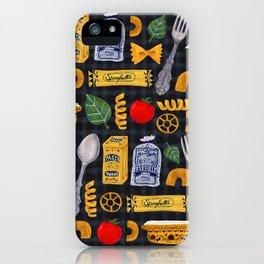Vintage macaroni pattern iPhone Case