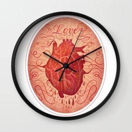 Anatomy of a Heart in Love Wall Clock