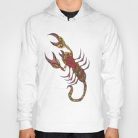 tatoo Hoodies featuring Tatoo Scorpion by PepperDsArt