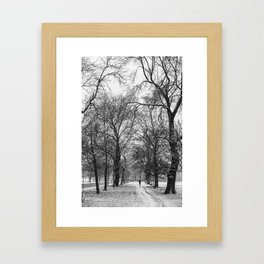 Winter jog Framed Art Print