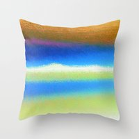 bands Throw Pillows featuring Colour Bands by Brian Raggatt