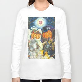 SLEEPY HOLLOW WEDDING - Brack Headless Horseman Halloween Art Long Sleeve T-shirt