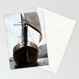 Gulet Under Sail Stationery Cards