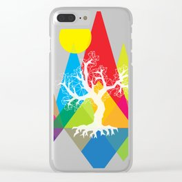 Tree White Clear iPhone Case