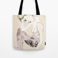 With stockings of flowers Tote Bag