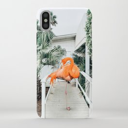 Flamingo Beach House #photography #digitalart iPhone Case