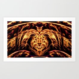 Golden Dragon Art Print