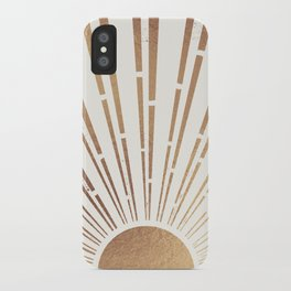 Sun Shines Inside you-Gold Edition iPhone Case