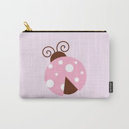 Ladybug (Ladybird, Lady Beetle) - Pink White Carry-All Pouch