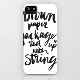 My Favourite Things - Brown Paper Packages iPhone Case