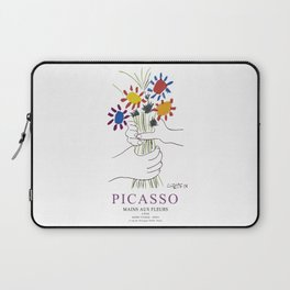 Picasso Exhibition - Mains Aus Fleurs (Hands with Flowers) 1958 Artwork Laptop Sleeve