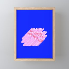 THE PIXELS ON YOUR SCREEN HAVE BECOME AN EXTENSION OF YOURSELF Framed Mini Art Print