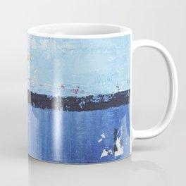 Shiver Abstract Art Blue Modern Water Painting  Coffee Mug