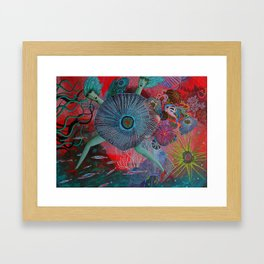 Coral Sisters Framed Art Print