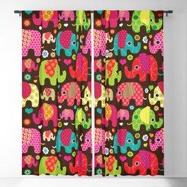 Colorful Elephants Blackout Curtain