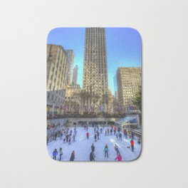 New York Ice Skating Bath Mat