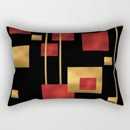 Red and Gold Foil Blocks Rectangular Pillow