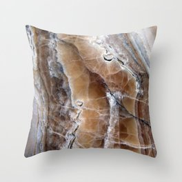 Marble Paint Formation Throw Pillow