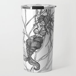 Mermaid in Distress environmental victim Travel Mug