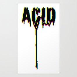 ACID DRIPS [CYMK] Art Print