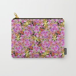 Tropical Tiger And Hibiscus Flowers Carry-All Pouch