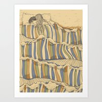 huebucket Art Prints featuring Ocean of love by Huebucket